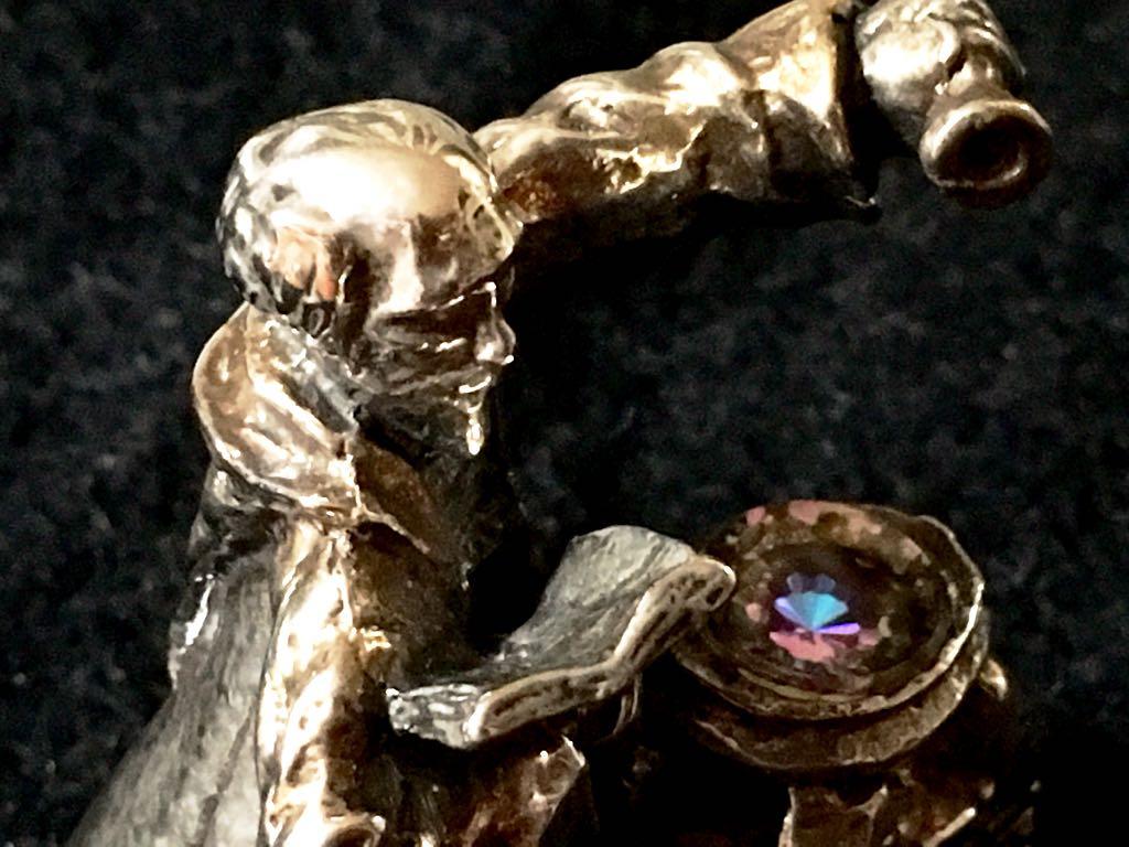 錬金術師 1984年製 ARLIN ROBINS作 ヴィンテージ金属製フィギュア ハリーポッター 中世 クロウリー 魔術 魔導書 ネクロノミコン_画像6