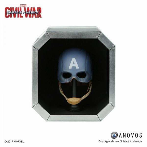 マーベル アーモリーコレクション シビル・ウォー キャプテン・アメリカ キャプテン・アメリカ 1/3 ヘルメット レプリカ グッズの画像