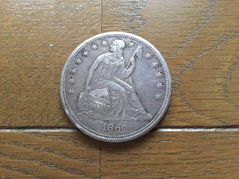 アメリカ女神座像1ドル銀貨1860年