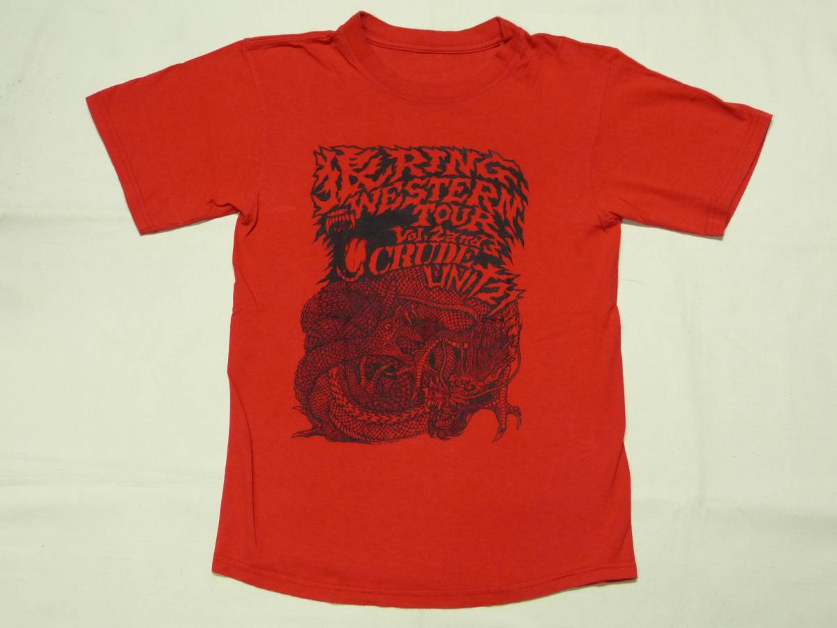 WOLF RING WESTERN TOUR 2009 Tシャツ 貴重 CRUDE GAUZE LIP CREAM DEATH SIDE JUDGEMENT DISCLOSE SDS GLOOM SWANKYS CONFUSE KURO GISM