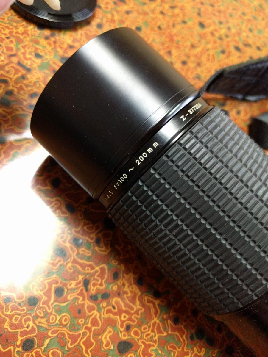 ○MINOLTA ミノルタ XG-E カメラ+シグマ 100-200mm 1:4.5 レンズ (MB-43)_画像9