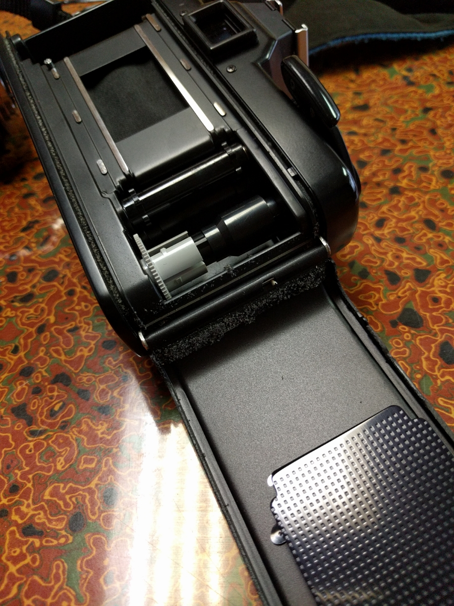○MINOLTA ミノルタ XG-E カメラ+シグマ 100-200mm 1:4.5 レンズ (MB-43)_画像5