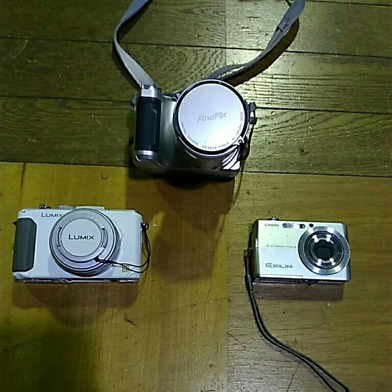 まとめ売り デジタルカメラ Panasonic LUMIX DMC-LX7 CASIO EXILM EX-Z600 富士フィルム FinePix S304 動作未確認★中古品★本体のみ