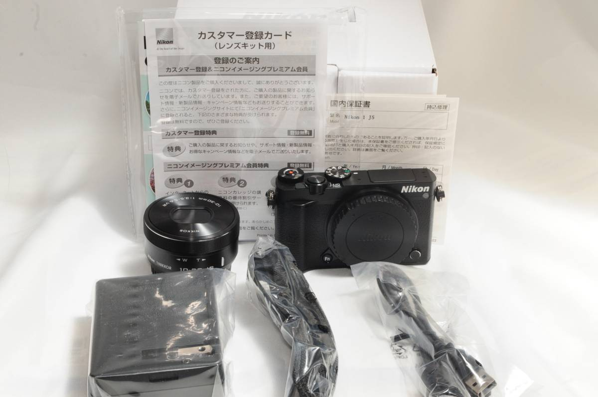 ★未使用品★Nikon 1 J5 標準パワーレンズキット ブラック 新品