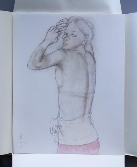 石本正 自選画集 集英社 限定 1450部 額装用素描画付_画像4