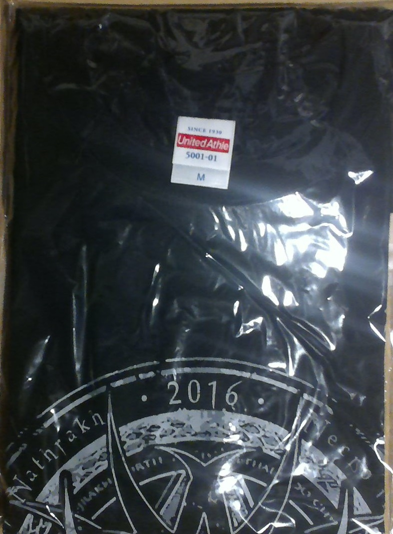 Anaal Nathrakh Tシャツ Mサイズ 未使用 2016 表にツアーデートあり 初来日 アナールナスラック