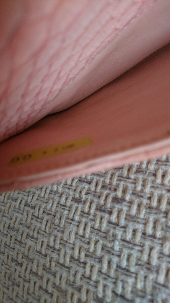 良品希少シャネルパイソンマトラッセ二重蓋チェーンショルダーバッグ正規品2way蛇ピンク_画像7