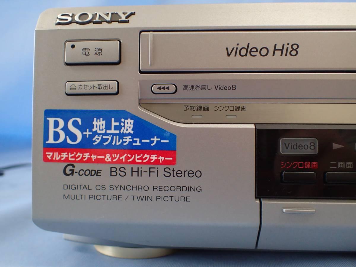 【ジャンク】SONYソニー◆ビデオカセットレコーダー WV-BW3_画像3