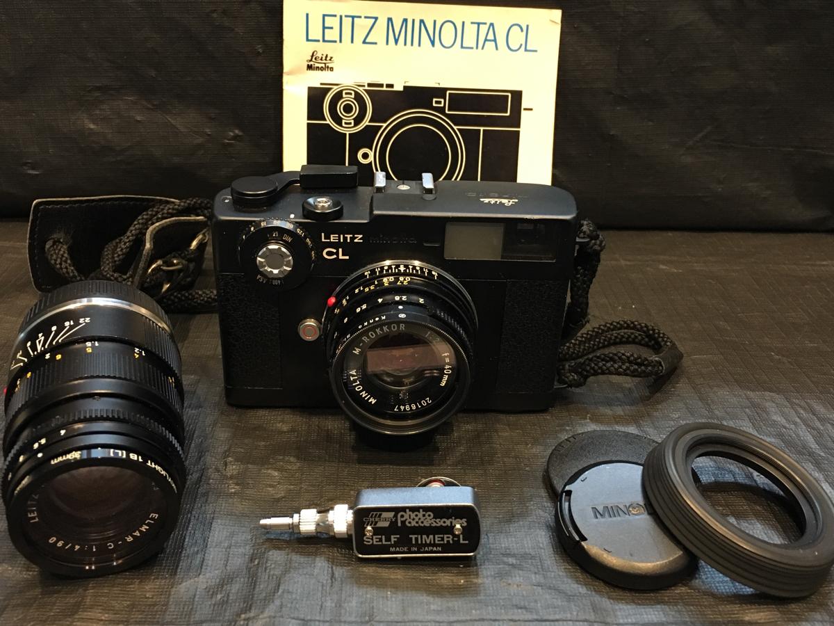 希少美品 人気ライツミノルタ LEITZ MINOLTA フィルムカメラCL&『ミノルタM-ROKKOR1:2/40mm+ELMAR-c1:4/90mm+オマケ』