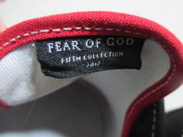 *1円~ レシート付 良好 VANS×FOG FEAR OF GOD SLIP-ON 47 V DX スリッポン RED BLACK SUEDE 黒赤 US10 28 FK_画像7