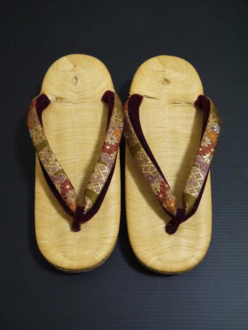 アンティーク♪竹皮表 コルク草履 22cm 大正ロマン 昭和レトロ 着物 和装_画像3