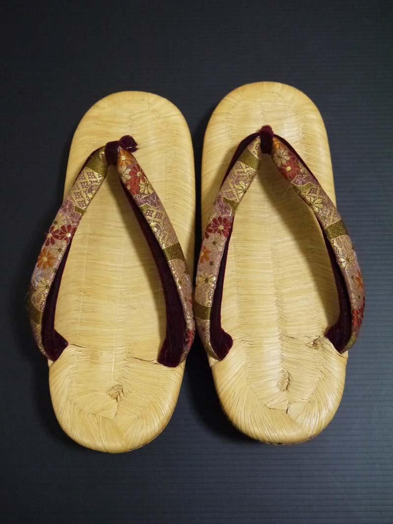 アンティーク♪竹皮表 コルク草履 22cm 大正ロマン 昭和レトロ 着物 和装_画像2