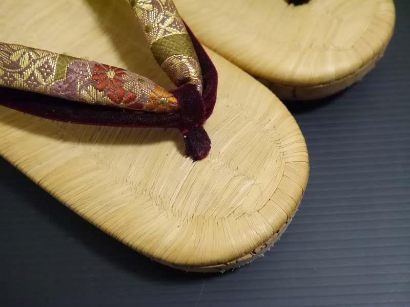 アンティーク♪竹皮表 コルク草履 22cm 大正ロマン 昭和レトロ 着物 和装_画像6