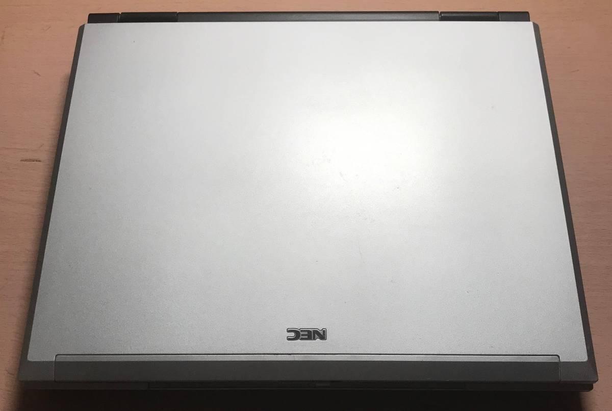 1円格安出品 PC-VY17FLVEW VersaPro VY17F/LV-W Windows(R) XP Professional ノートパソコン 2005年10月モデル 付属品あり HDD40GB 512MB_画像2