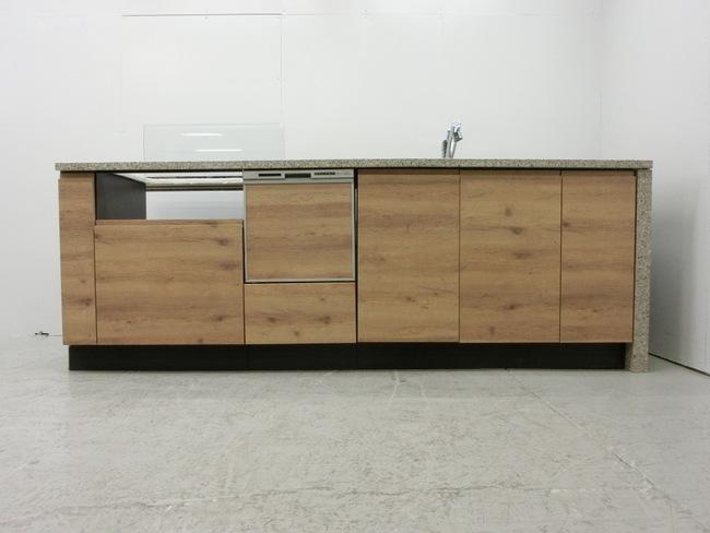 ◆展示品/タカラスタンダード/対面型システムキッチン/木目調/食洗器付/石天板/高級◆_画像2
