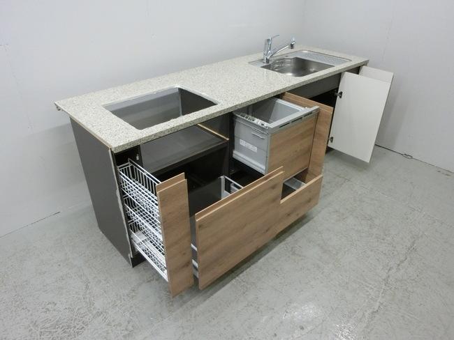 ◆展示品/タカラスタンダード/対面型システムキッチン/木目調/食洗器付/石天板/高級◆_画像4