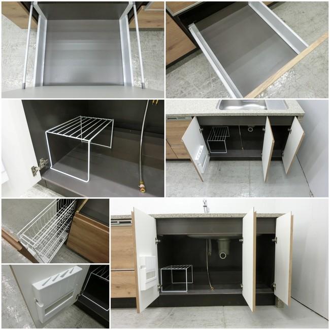 ◆展示品/タカラスタンダード/対面型システムキッチン/木目調/食洗器付/石天板/高級◆_画像7