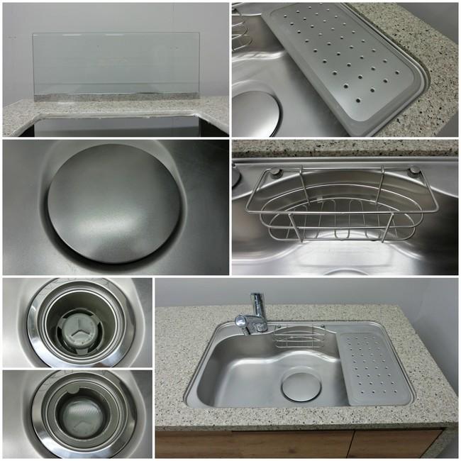 ◆展示品/タカラスタンダード/対面型システムキッチン/木目調/食洗器付/石天板/高級◆_画像5