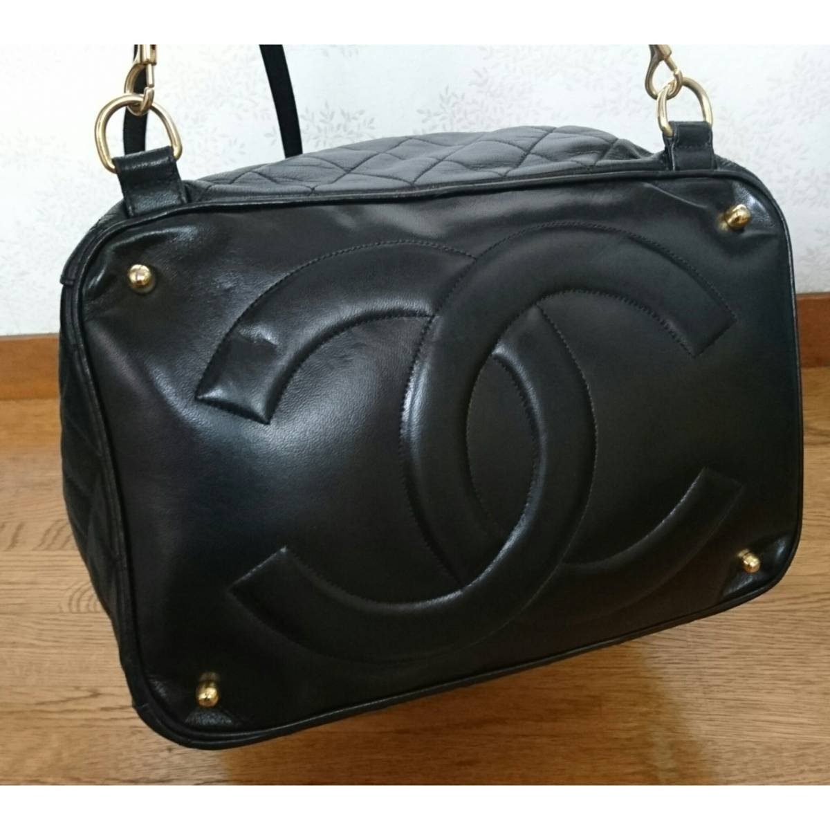 CHANEL シャネル リュック バックパック ブラック ハンドバッグ 黒 バッグ ヴィンテージシャネル レザーバッグ レア vintage ヴィンテージ_画像7