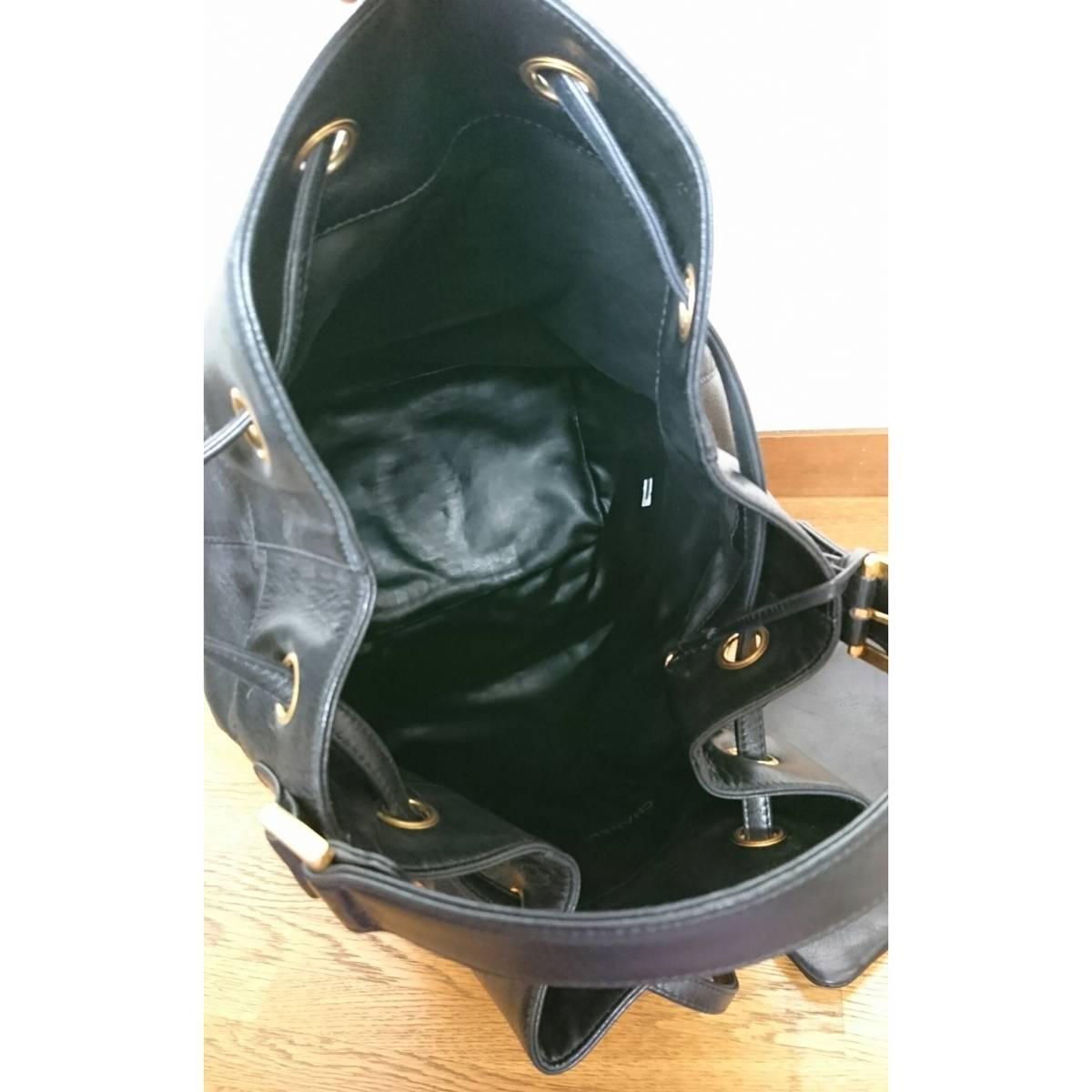 CHANEL シャネル リュック バックパック ブラック ハンドバッグ 黒 バッグ ヴィンテージシャネル レザーバッグ レア vintage ヴィンテージ_画像8