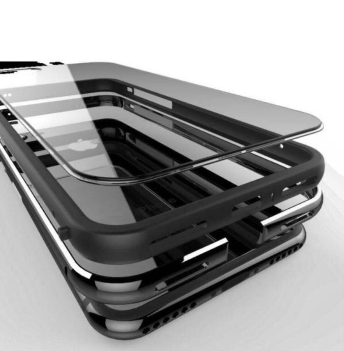 超人気 黒iPhoneX 7/7plus 8/8plus ケース 機種選択 人気1位 オススメ こだわり素材アルミ合金 シリコン 二重保護 超安心ケース_画像1