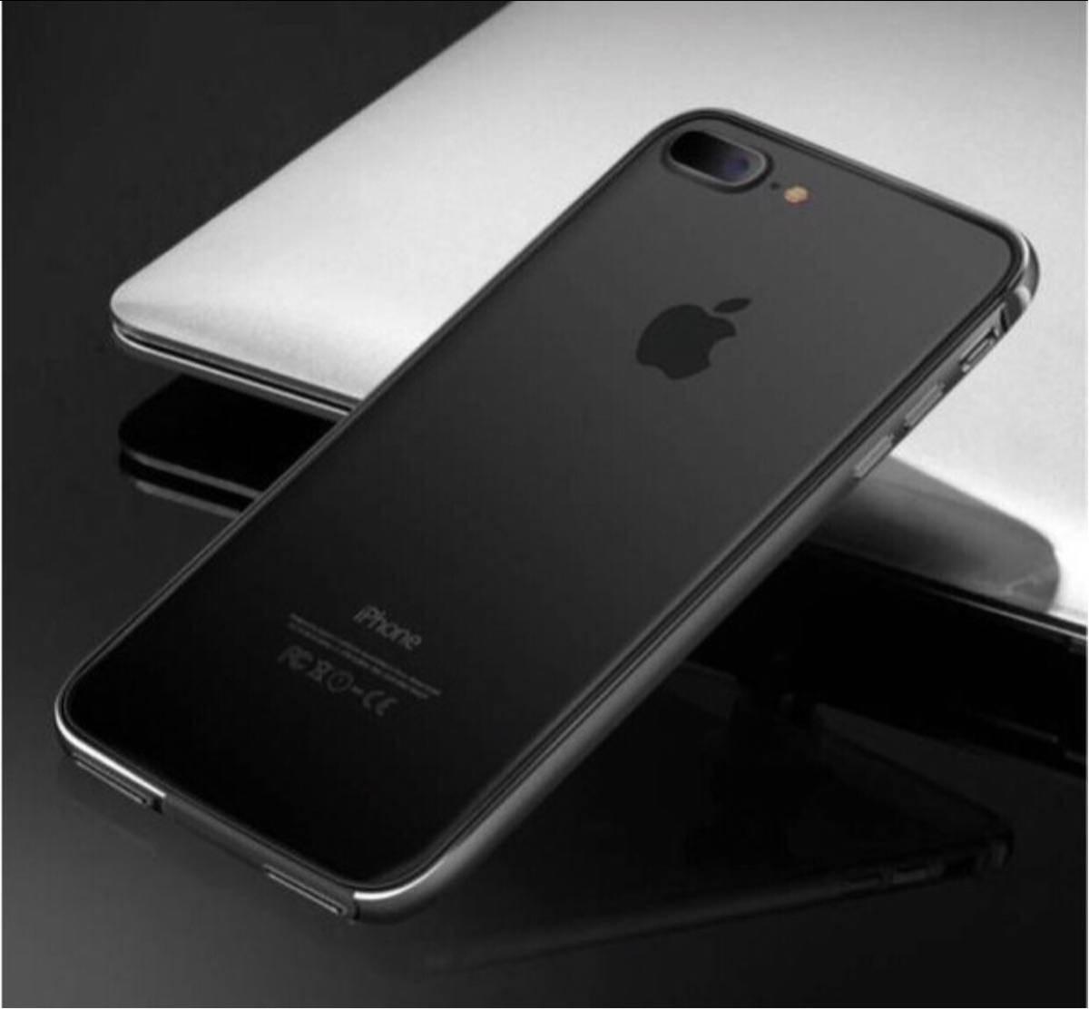 超人気 黒iPhoneX 7/7plus 8/8plus ケース 機種選択 人気1位 オススメ こだわり素材アルミ合金 シリコン 二重保護 超安心ケース_画像4