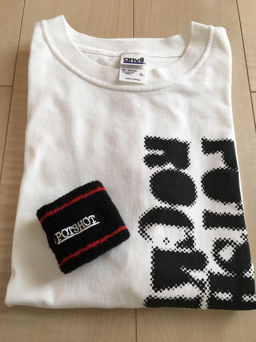 【古着/中古】POTSHOTポットショットTシャツ+リストバンド kemuriケムリWANIMAワニマピザオブデスSNAIL RAMPScafull kingハイスタンダード