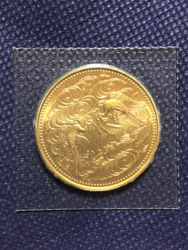 1円~ 天皇陛下御在位60年記念 10万円金貨(20g) 昭和61年 純金