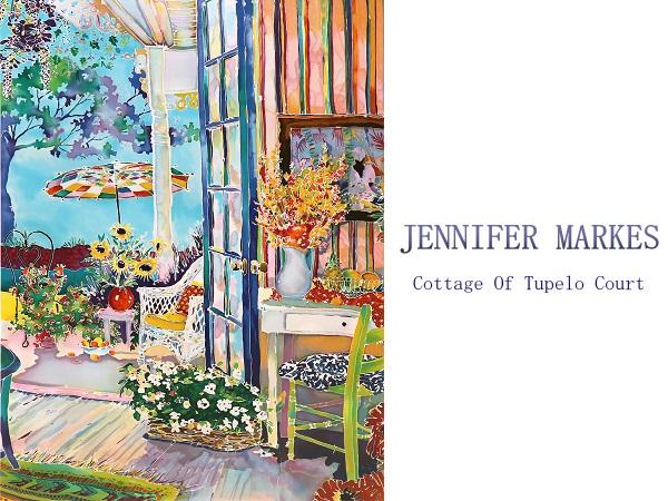 ジェニファー・マークス 大型版画 限定100部 アメリカ リゾート 風景 シルクスクリーン