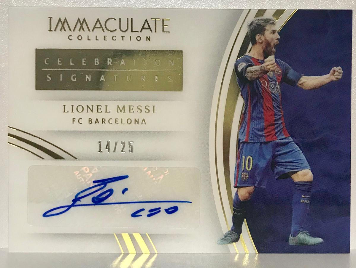 Lionel Messi 2017 Panini Immaculate Celebration Auto /25 直筆サインカード