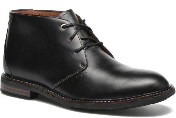 CLARKS 28cm ブーツ ブラック 黒 レザー 革 レースアップ チャッカ スニーカー ビジネス チェルシー ローファー スリッポン 887_画像1