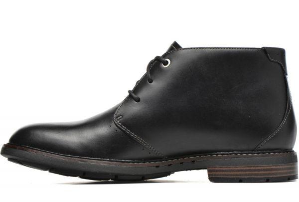 CLARKS 28cm ブーツ ブラック 黒 レザー 革 レースアップ チャッカ スニーカー ビジネス チェルシー ローファー スリッポン 887_画像2