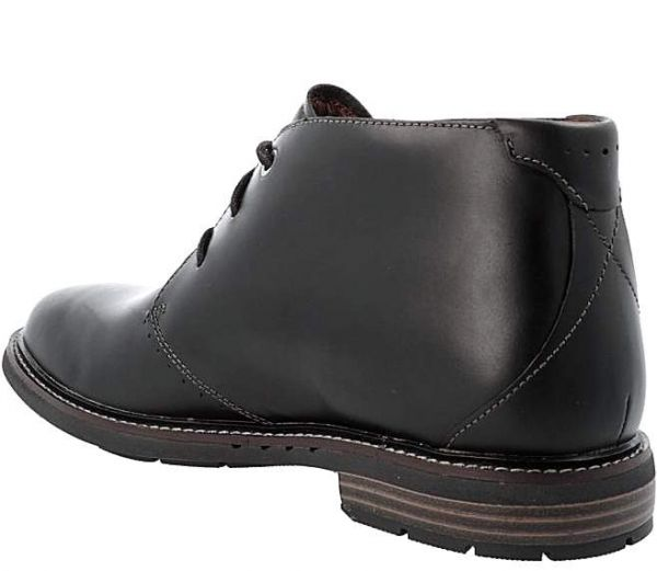 CLARKS 28cm ブーツ ブラック 黒 レザー 革 レースアップ チャッカ スニーカー ビジネス チェルシー ローファー スリッポン 887_画像3