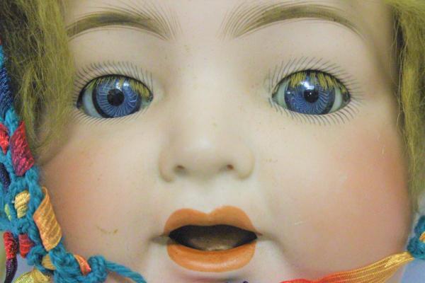 ドイツ製 K・R SIMON HALBIG/シモンハルビック 126 62㎝ ビスクドール アンティーク 赤ちゃん オープンマウス ブルーグラスアイ80EAC_画像2