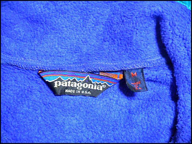 ★おすすめなサイズ感の1着★Made in USA製アメリカ制PatagoniaパタゴニアビンテージフリースジャケットスナップT90s90年代M古タグOLDタグ_画像6