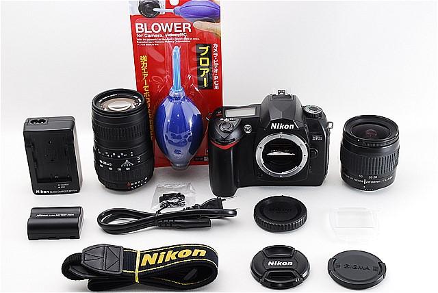 ★シャッター数2350回★ニコン Nikon D70s ダブルレンズ デジイチ入門 300mm超望遠セット #406
