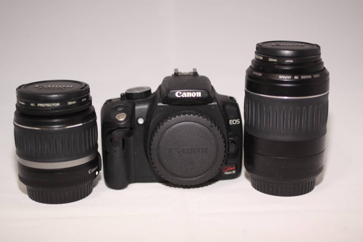 美品! Canon EOS Kiss デジタルN ダブルズームキット元箱付き おまけ多数付き!お買い得商品!