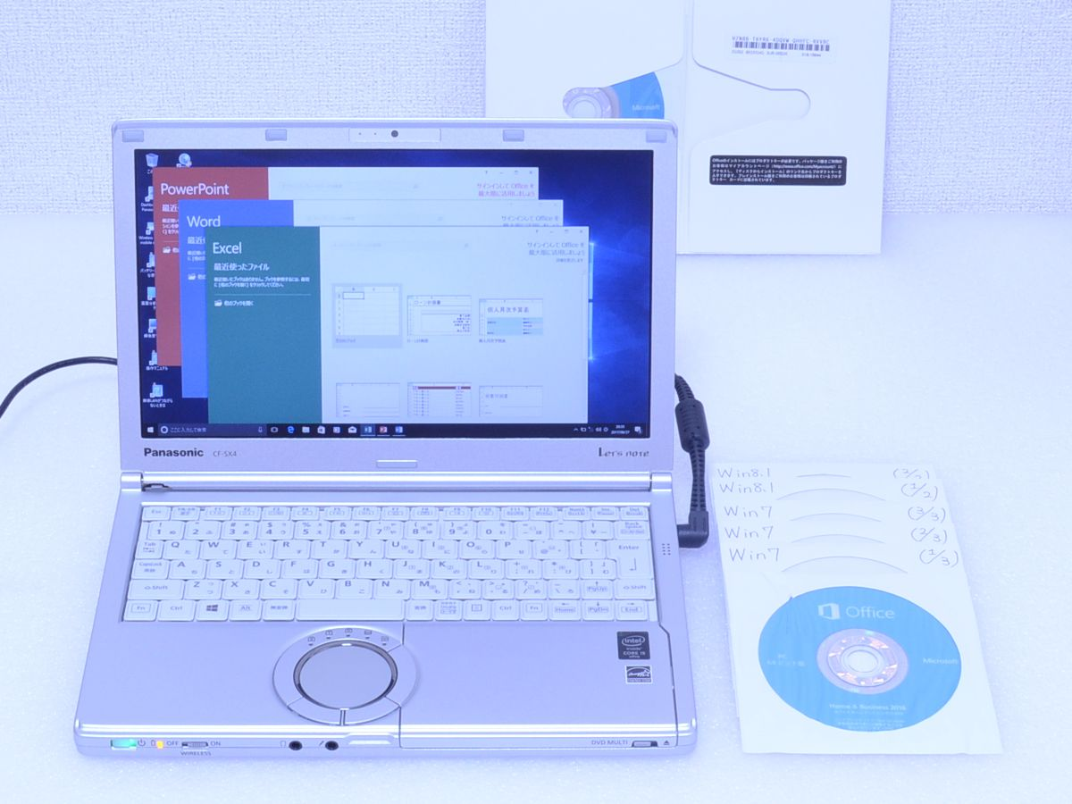 【830時間】Panasonic Let's note CF-SX4 Core i5 5300U 8GB 320GB ☆キーボード 新品 カメラ Bluetooth Win10/Win7/Win8.1 MS Office 2016
