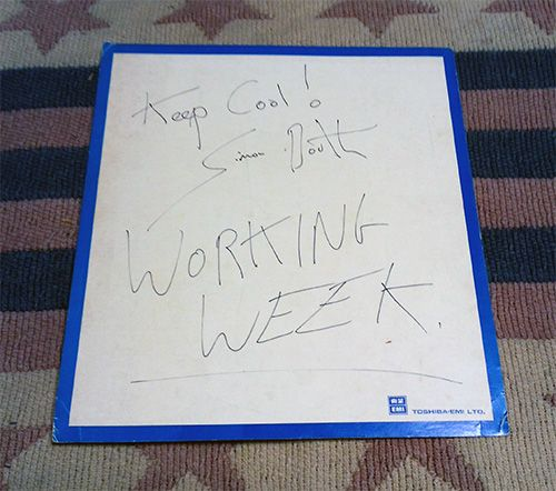 直筆サイン ワーキング・ウィーク Working Week サイモン・ブース Simon Booth 貴重