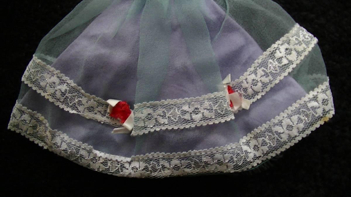 レトロ 初代リカちゃんの衣装 ドレス 水色の世界 ロッテ ペンダント_画像6