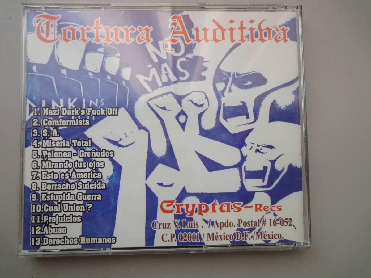 美品★ TORTURA AUDITIVA CD オリジナル盤 メキシコハードコア ラテン MASSACRE68 GISM DISCHARGE PUNK GAUZE RANCID パンク CLASH _画像4