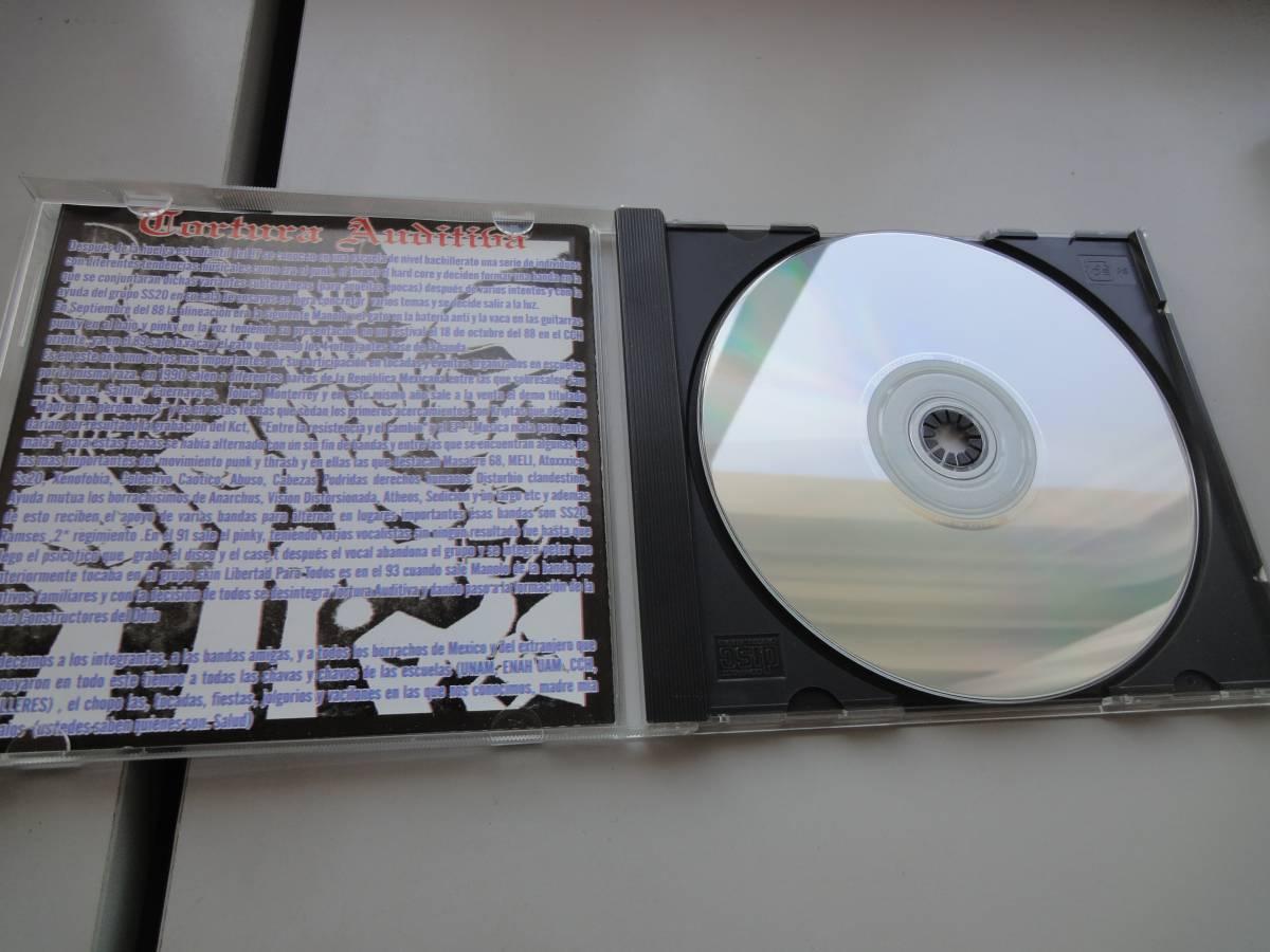 美品★ TORTURA AUDITIVA CD オリジナル盤 メキシコハードコア ラテン MASSACRE68 GISM DISCHARGE PUNK GAUZE RANCID パンク CLASH _画像3