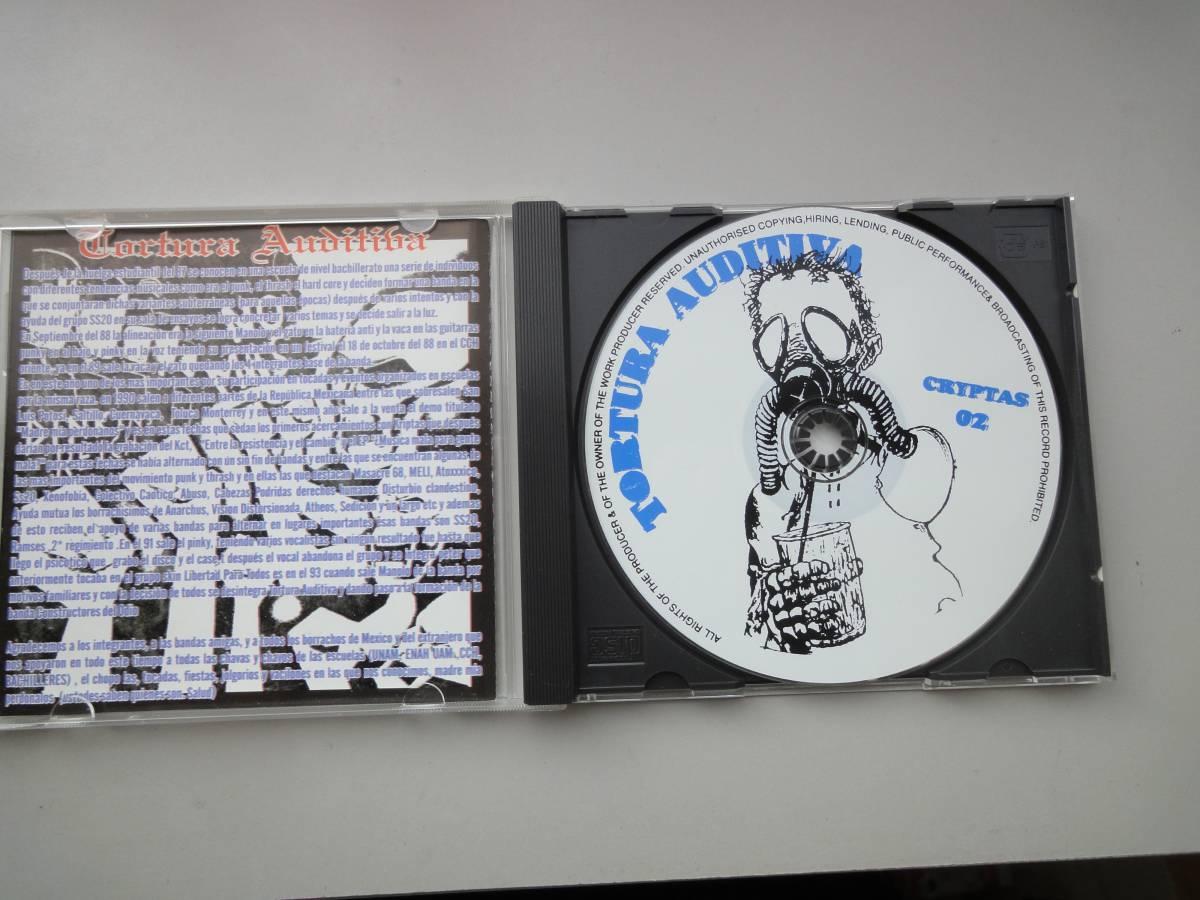 美品★ TORTURA AUDITIVA CD オリジナル盤 メキシコハードコア ラテン MASSACRE68 GISM DISCHARGE PUNK GAUZE RANCID パンク CLASH _画像5