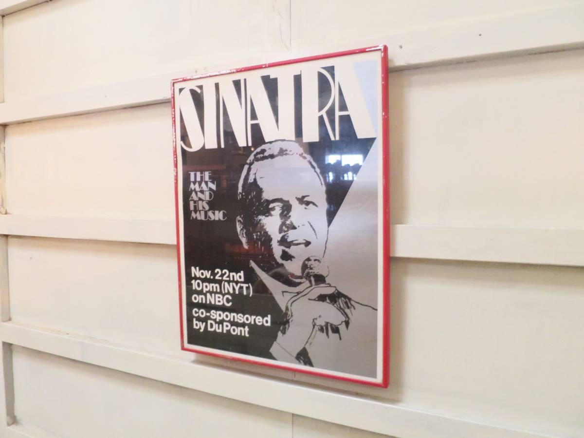 ビンテージ SINATRAポスター フランク・シナトラ アメリカ ジャズ グラフィック 壁掛け ディスプレイ モノクロ 音楽ヴィンテージ NBC