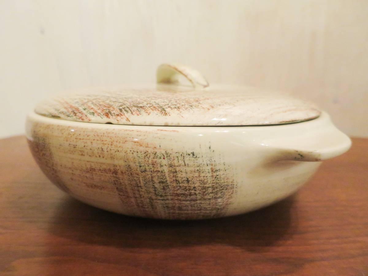 ビンテージ 50's Vernon Kilns社製 陶器キャセロールディッシュ ミッドセンチュリー vernonware ココット アメリカ ヴィンテージ 小物入れ_画像5