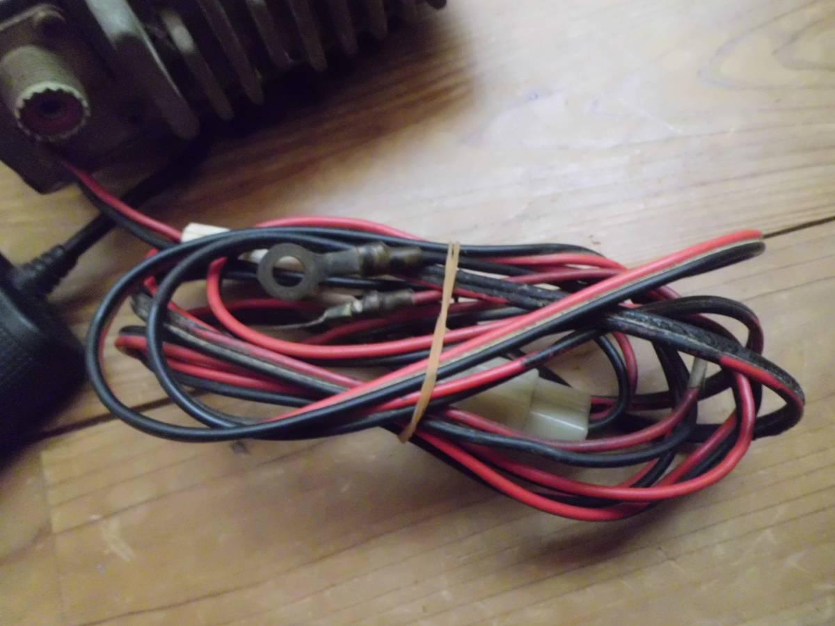 クラリオン 極超短波簡易無線電話装置 JC-105T型 アマチュア無線機 マイク付き 昭和56年製 CSITK 150・5F3-1-4 動作未確認_画像8