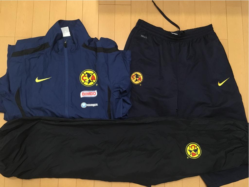 【美品】レア クラブ・アメリカ Club America サッカー メキシコリーグ ウィンドブレーカー上下 7分丈パンツ 3点 Nike ナイキ