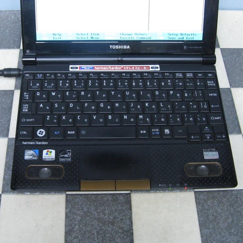 東芝 10.1インチ N300/02DC BIOS OK ジャンクで_画像2
