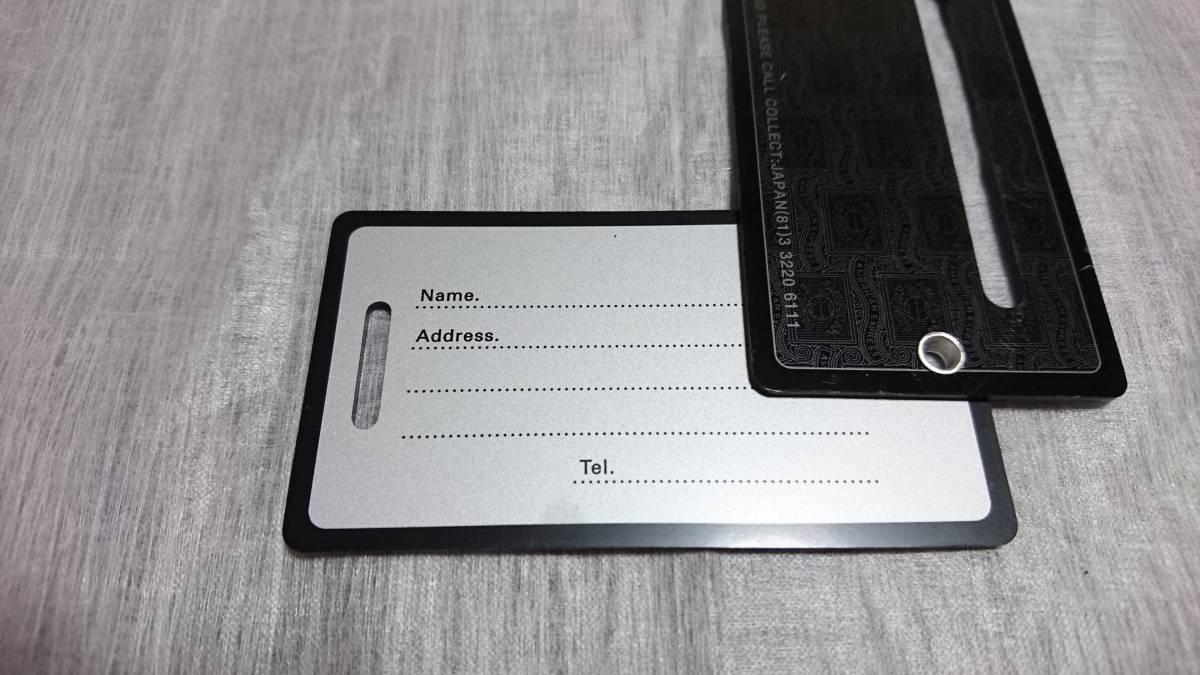【ラスト1品】非売品 新品未使用 AMEX センチュリオン ブラックカード会員専用 ネームタグ 2枚セット_画像4
