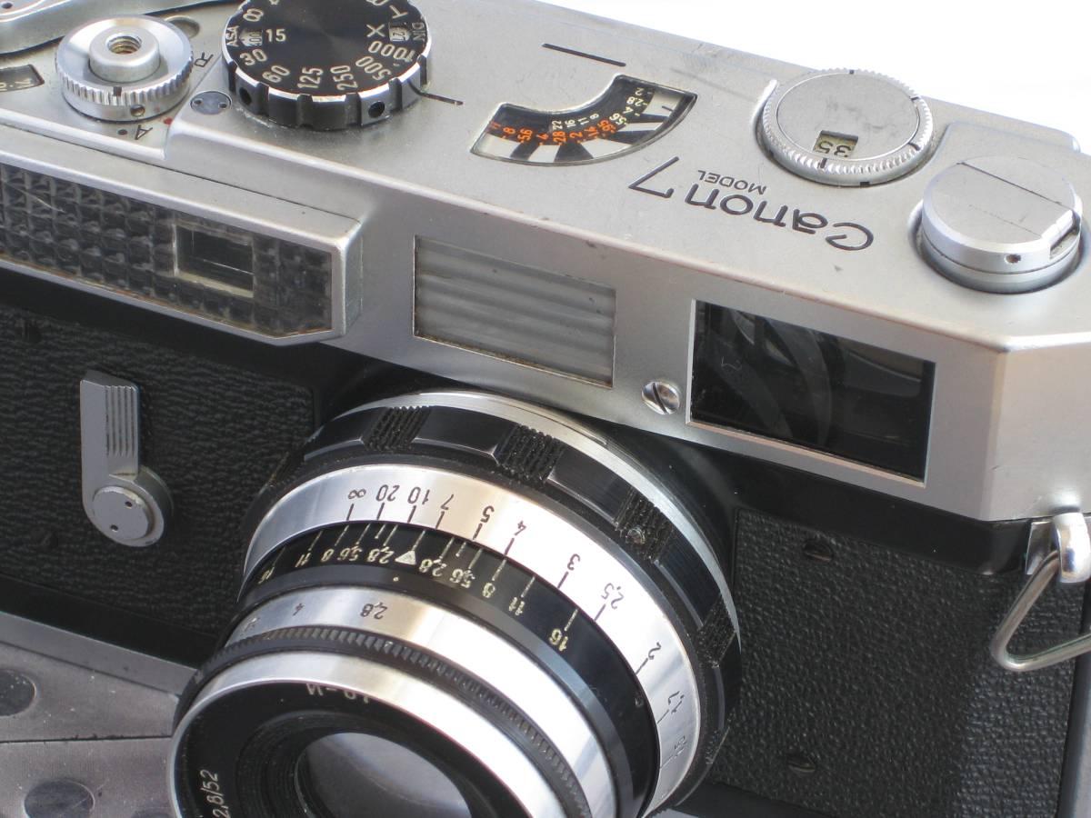 Canon キャノン7 レンジファインダー・カメラ FED フェド インダスター61 53mm F2.8 オールド ヴィンテージ クラシックカメラ_画像6